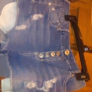 Rue 21 High Waisted Curvy Distressed Shorts